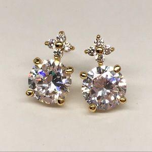 Jewelry - New gold filled cute flower stud earrings